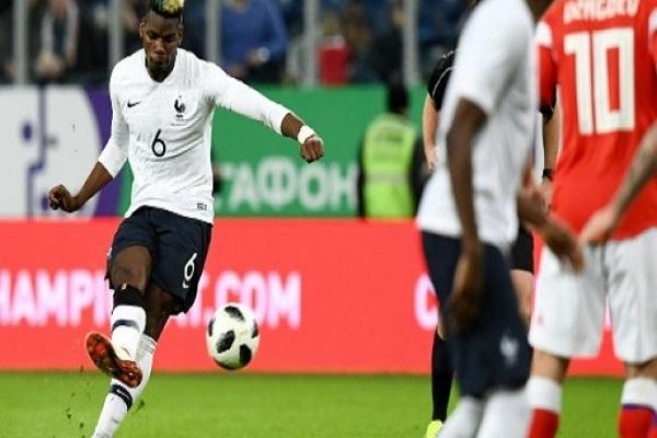 المباراة الدولية الودية بين روسيا وفرنسا