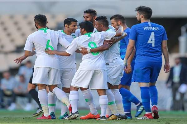 فوز السعودية على اليونان استعدادا لمونديال 2018