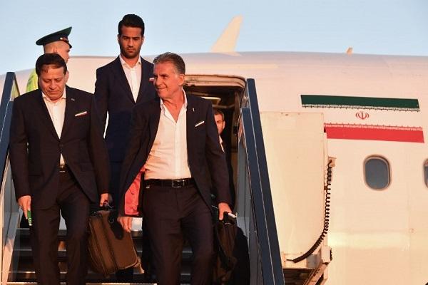 إيران أول منتخب يصل إلى روسيا