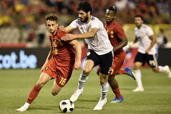 مصر تنهي تحضيراتها بخسارة أمام بلجيكا بثلاثية