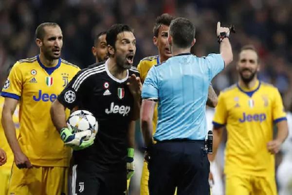 إيقاف بوفون 3 مباريات لطرده ضد ريال مدريد
