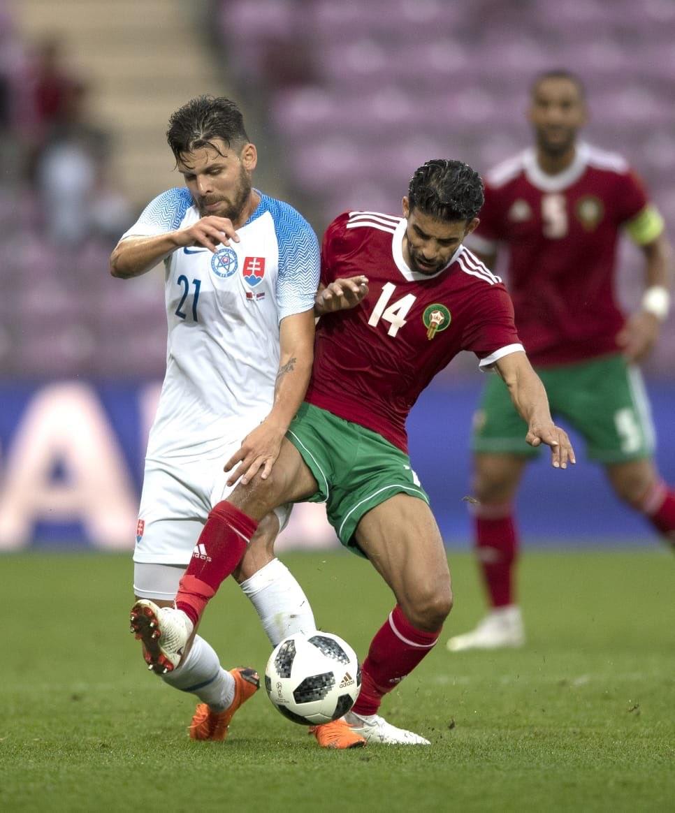 من لقاء المغرب وسلوفاكيا