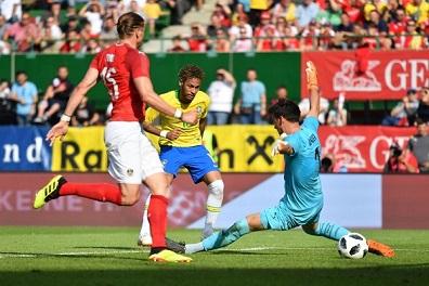 فوز البرازيل على النمسا في تجربتها الأخيرة قبل المونديال