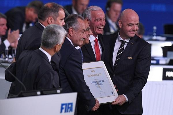 فوز الملف الثلاثي الأمريكي بتنظيم مونديال 2026 على حساب المغرب