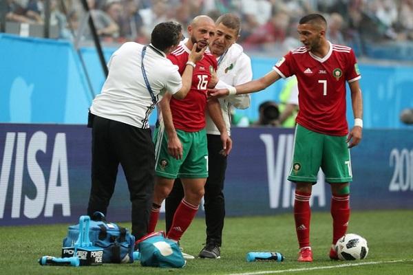 ضجة كبيرة بسبب تعامل الطاقم الطبي للمغرب مع إصابة أمرابط