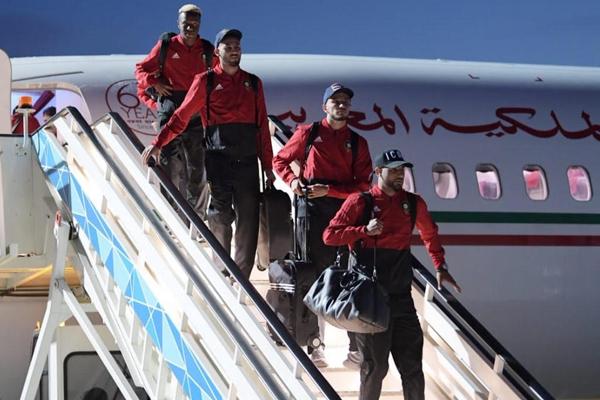 وصول بعثة المغرب إلى روسيا