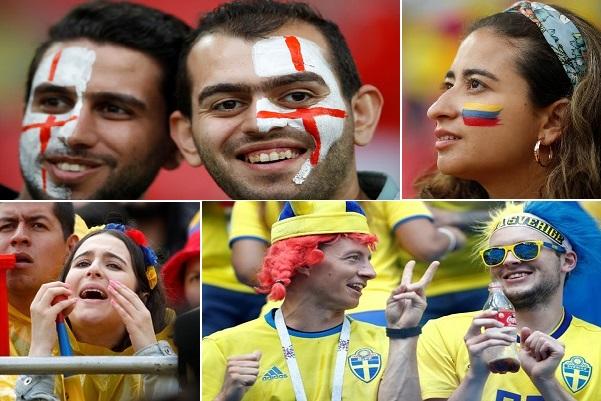 أفراح إنكليزية وسويدية وخيبة أمل كولومبية وسويسرية