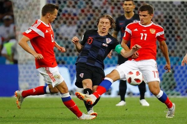 روسيا وكرواتيا الى الوقت الاضافي بعد التعادل 1-1