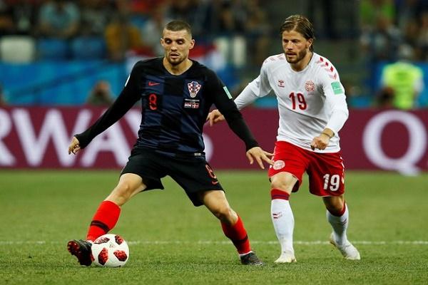 كرواتيا والدنمارك الى الوقت الاضافي بعد التعادل 1-1