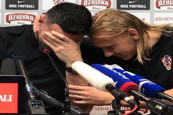 رسالة وفاء تتسبب في بكاء حارس كرواتيا