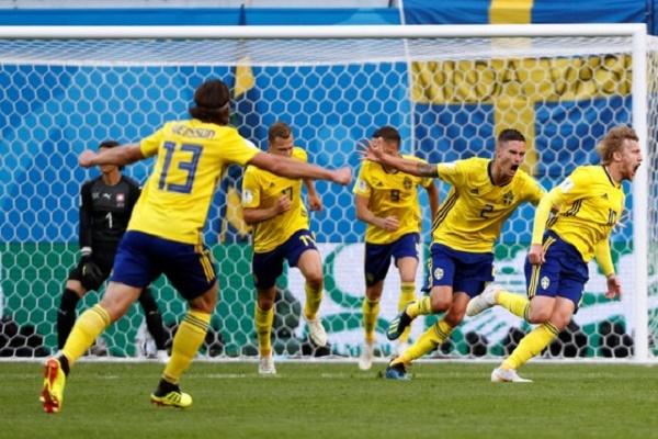 السويد تهزم سويسرا وتتأهل إلى ربع نهائي مونديال روسيا