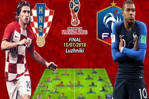 لا تغييرات في تشكيلتي فرنسا وكرواتيا للمباراة النهائية