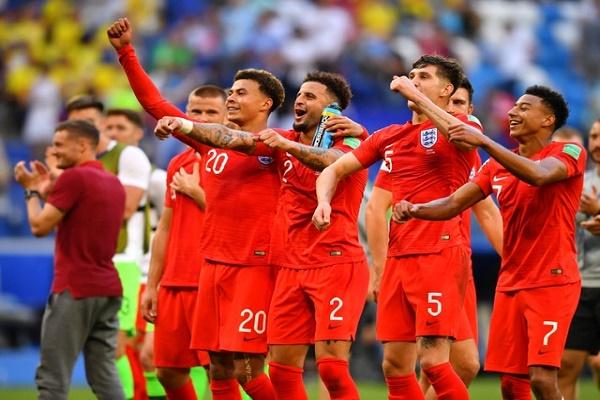 فرحة الإنكليز بالوصول إلى نصف النهائي