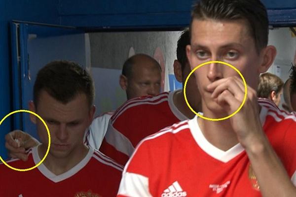 الكشف عن المادة التي استخدمها لاعبو روسيا في المونديال