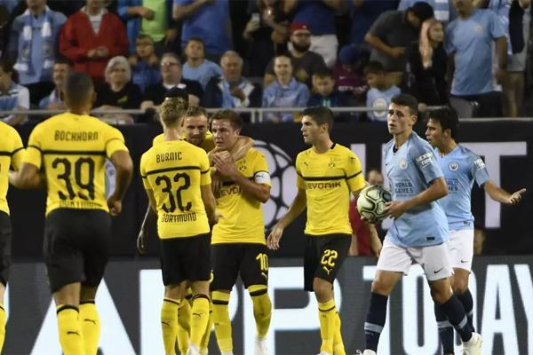 سجل اصابة الفوز لبوروسيا دورتموند المهاجم ماريو غوتسه صاحب اصابة الفوز لالمانيا على الارجنتين في نهائي مونديال 2014