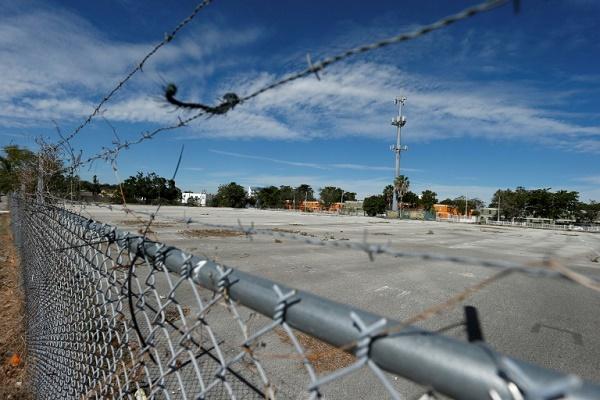 صورة عن الموقع المقرر لبناء الملعب الجديد لنادي النجم الانكليزي السابق ديفيد بيكهام في ميامي