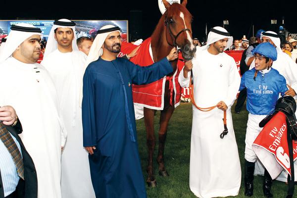 تقام كأس دبي العالمية منذ عام 1996 وتتألف من تسعة اشواط، اهمها الشوط الرئيسي الذي يجذب نخبة الخيول من مختلف القارات
