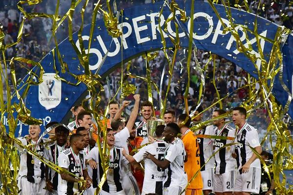 رونالدو يقود يوفنتوس لإحراز لقب كأس السوبر على حساب ميلان