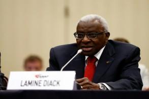 الرئيس السابق للاتحاد الدولي لألعاب القوى السنغالي لامين دياك