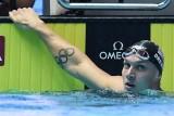 النجم الأميركي كايليب دريسل بعد تحطيمه الرقم القياسي لسباق 100 م فراشة في بطولة العالم للسباحة