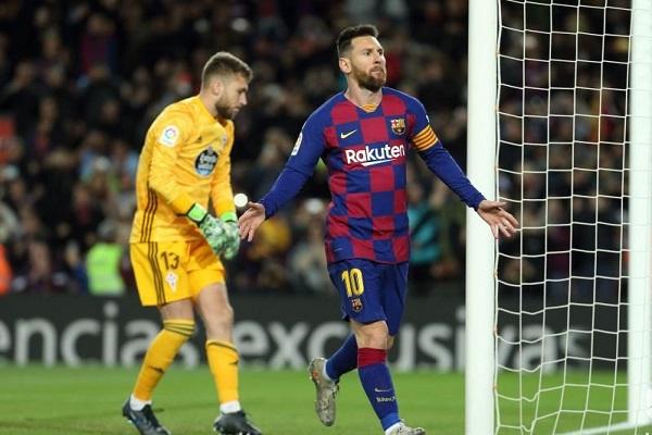برشلونة يهزم سلتا فيغو برباعية