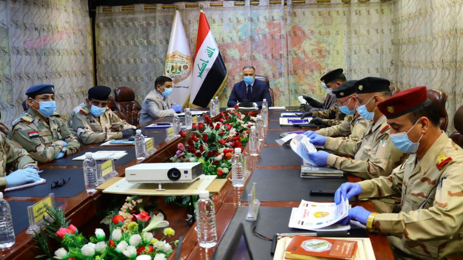 الكاظمي مترئسا اجتماعا لقيادة القوات المشتركة