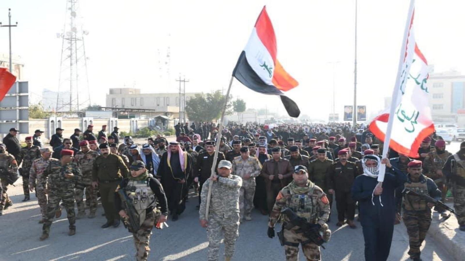 تشييع عنصر امن قتل خلال احتجاجات الناصرية الجنوبية