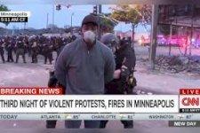 اعتقال مُراسل سي إن إن أثناء تغطيته احتجاجات مقتل جورج فلويد