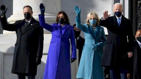من حفل تنصيب جو بايدن رئيسًا للولايات المتحدة مع نائبته كامالا هاريس الأربعاء