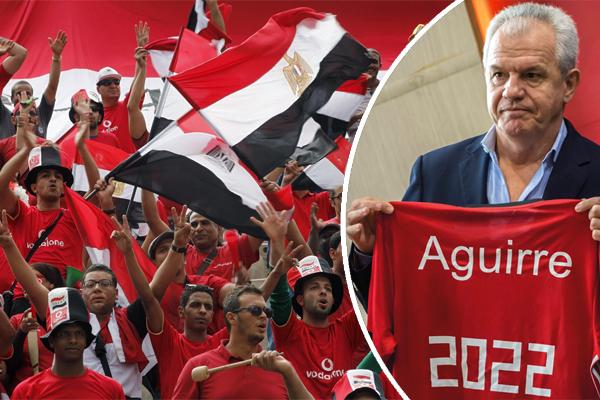 لم يرقَاسم المدرب المكسيكي خافيير اغيري الذي تم تعيينه مدرباً للمنتخب الأول إلى مستوى آمال و تطلعات الشارع الرياضي المصري