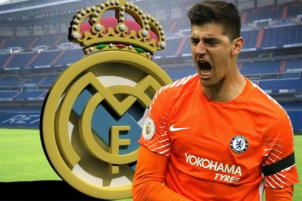 رضخ تشلسي لرغبة كورتوا بالتواجد قرب طفليه في مدريد وسعيه للالتحاق بريال مدريد