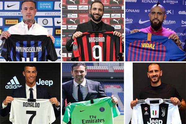 شهدت سوق انتقالات اللاعبين خلال العام الجاري إقدام كبار الأندية في الدوريات الأوروبية على إبرام صفقات باهظة مع نجوم مخضرمين