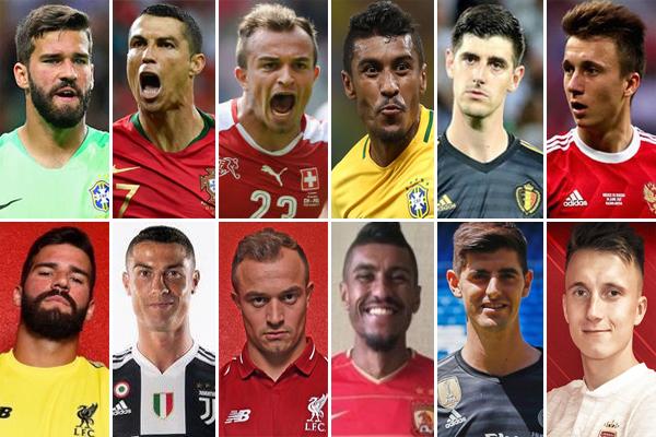اقدم 112 لاعباً ممن شاركوا مع منتخباتهم الوطنية في بطولة كأس العالم بروسيا على تغيير أنديتهم خلال فترة الانتقالات الصيفية