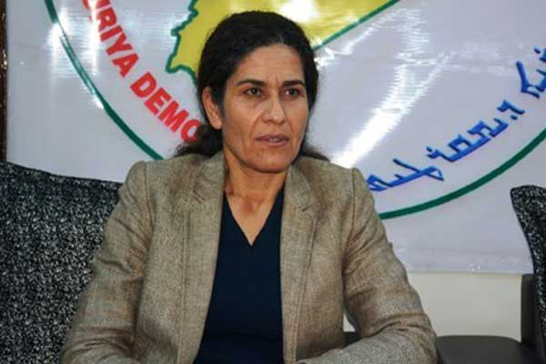 إلهام أحمد رئيسة الهيئة التنفيذية لمجلس سوريا الديمقراطية