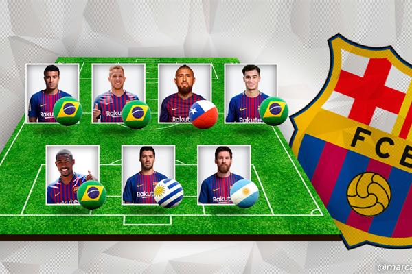 ارتفع عدد لاعبي برشلونة القادمين من أميركا اللاتينية إلى 7 لاعبين