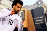 صلاح مع المنتخب المصري بعد تسجيل هدف في مرمى الاتحاد