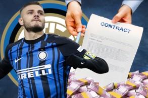 النادي ووكيلة إيكاردي توصلاإلى اتفاق بشأن مدة العقد ، غير ان الخلاف بينهما تمحور حول الراتب السنوي الذي سيحصل عليه اللاعب