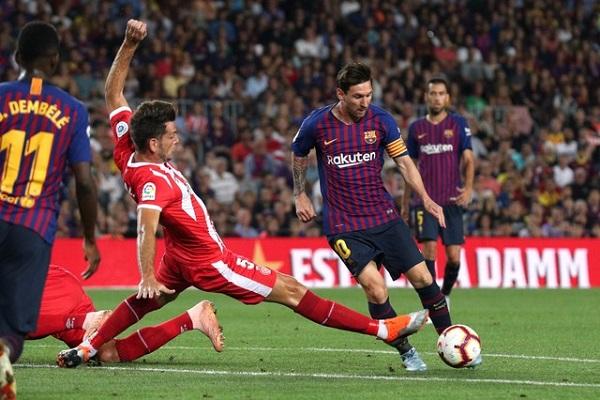 جيرونا يوقف الانطلاقة القوية لبرشلونة