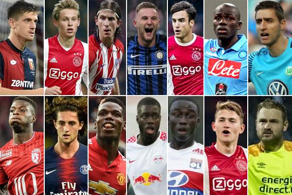 تضم القائمة لاعبين في مختلف الخطوط في مؤشر يوحي بأن النادي الكتالوني مقبل على تغيير جلده