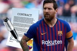 أكدت إدارة نادي برشلونة الإسباني عدم نيتها تجديد عقد مهاجم الفريق الأرجنتيني ليونيل ميسي