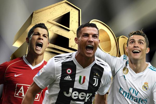 سجل رونالدو 400 هدف بعدما لعب 497 مباراة في الدوريات الأوروبية الثلاثة التي خاضها خلال مسيرته الكروية الحافلة بالإنجازات