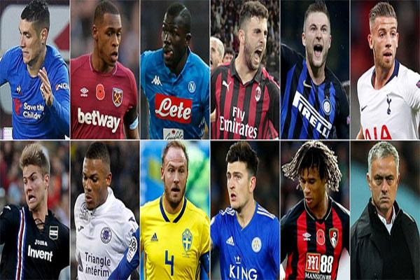 مورينيو وضع قائمة تضم 11 لاعباً في مركز قلب الدفاع بعضهم ينشطون في الدوري الإنكليزي والبعض الآخر خارجه