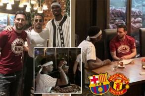 ميسي قد استغل اللقاء لمحادثة بوغبا في موضوع رحيله عن مانشستر يونايتد والانتقال إلى برشلونة