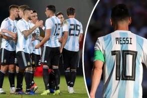 فضل الاتحاد الأرجنتيني خلال المواجهة حجب القميص رقم 10 الذي يرتديه ميسي