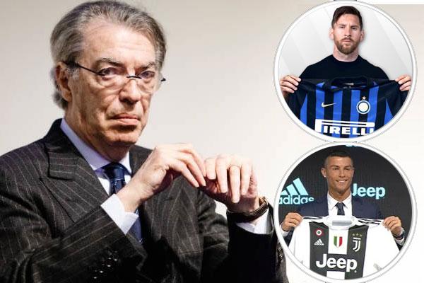 تعاقد يوفنتوس مع كريستيانو رونالدو كان سيجبر موراتي على التعاقد مع الأرجنتيني ليونيل ميسي