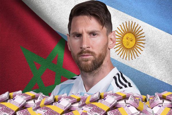 الاتحاد المغربي اشترط مشاركة ليونيل ميسي لدفع مكافأة تقدر بمليون يورو للاتحاد الأرجنتيني