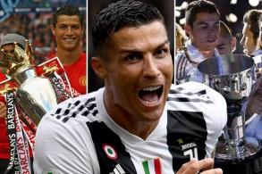 رونالدو أول لاعب في التاريخ يتوج بثلاثة دوريات أوروبية كبرى