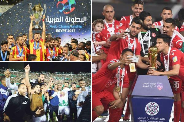 جسد عرب إفريقيا هيمنتهم على البطولة العربية خلال المرحلة التي كانت تحمل اسم دوري أبطال العرب