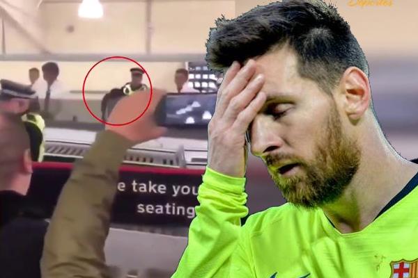 بعض أنصار نادي برشلونة توجهوا إلى مطار مدينة ليفربول، من أجل توبيخ نجم الفريق الكاتالوني ليونيل ميسي