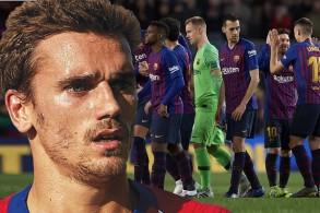 لاعبو برشلونة يرفضون انتقال غريزمان إلى صفوف الفريق